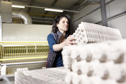 Faserformteilen aus Recyclingmaterial